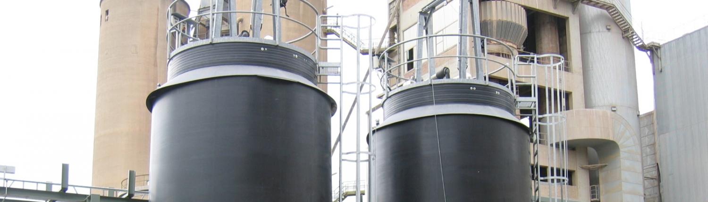 50 m3 NaOH opslagtanks in PE