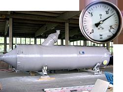 GFK Druck Behälter, Projekt: Akzo Delfzijl, ø1800mm Brine Entgaser, Druck 8,0 bar / Prüfdruck 11,45 bar